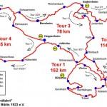 Weschnitzrundfahrt - Karte der Touren